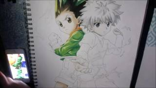 Speed Drawing Gon & Killua | Hunter X Hunter
