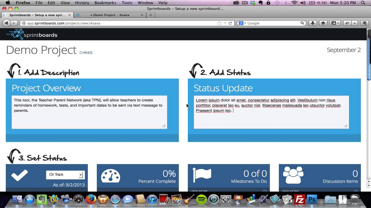 Sprintboards in 60 Project Status Report Template YouTube – Simple Status Report Template