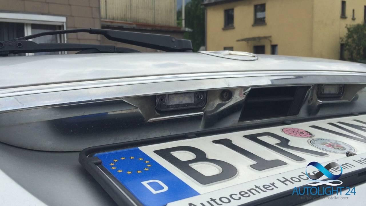 Kfz Kennzeichen Beleuchtung   Led Kennzeichenbeleuchtung Einbauanleitung Fur Mercedes C Klasse T