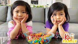 Kids Trying NOT to eat Candy Challenge with Emma and Kate!!