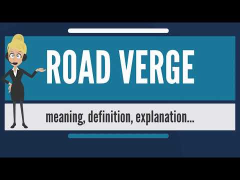 What  is ROAD VERGE? What does ROAD VERGE mean? ROAD VERGE meaning, definition & explanation