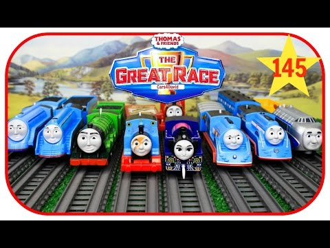 THOMAS AND FRIENDS The Great Race #145 TrackMaster Trophy Thomas| Thomas & Friends Toys Trains Kids