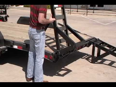 Pj Trailers Double Hinge Flip Over Ramps Youtube