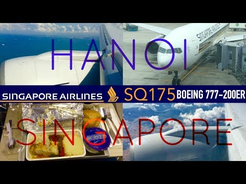 Singapore Airlines SQ175 : Flying from Hanoi to Singapore
