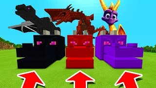Minecraft PE : DO NOT CHOOSE THE WRONG DRAGON HEAD! (Ender Dragon, Dragon & Spyro)