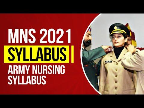 MNS 2021 Syllabus   Army Nursing Syllabus 2021   MNS Latest Syllabus 2021