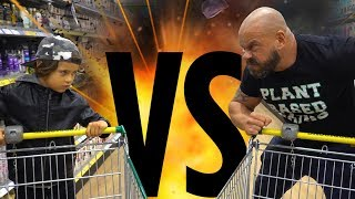 Kid vs Bodybuilder Shopping Challenge EPIC