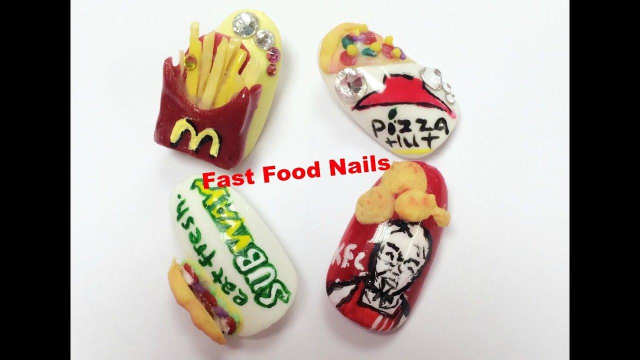 3D Acrylic Nail Art Tutorial~~SUBWAY Nails~~ - YouTube