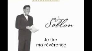Je tire ma révérence. par Jean Sablon