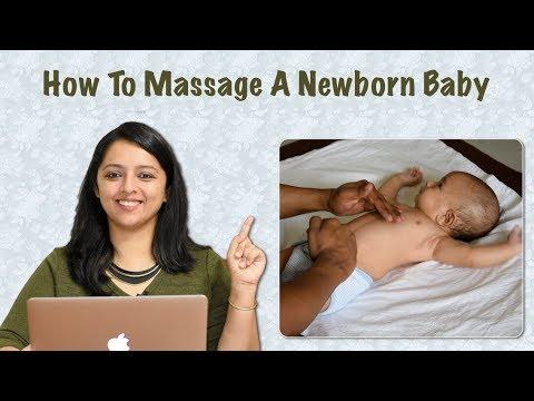 नवजात शिशु और बच्चों की मसाज कैसे करें | How To Massage Your Newborn Baby In Hindi