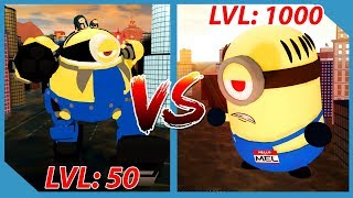 Giant Minion Battle! - Roblox Minions Adventure Obby: Despicable Forces!!