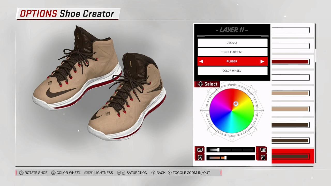 ec2add7dce418 NBA 2K18 Shoe Creator - Nike LeBron 10