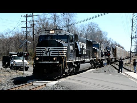 Heavy Port Reading Secondary Action, Railfanning, Middlesex - Port Reading, NJ Apr 21, 2018