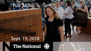 WATCH LIVE: The National for Wednesday, Sept. 19, 2018