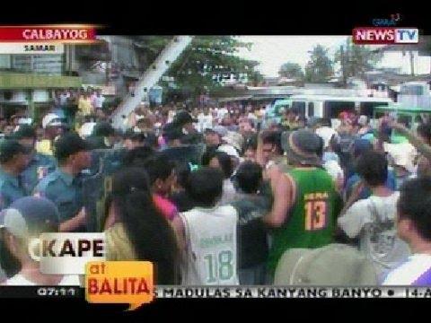 KB: Demolisyon sa palengke sa Calbayog, Samar, nauwi sa gulo