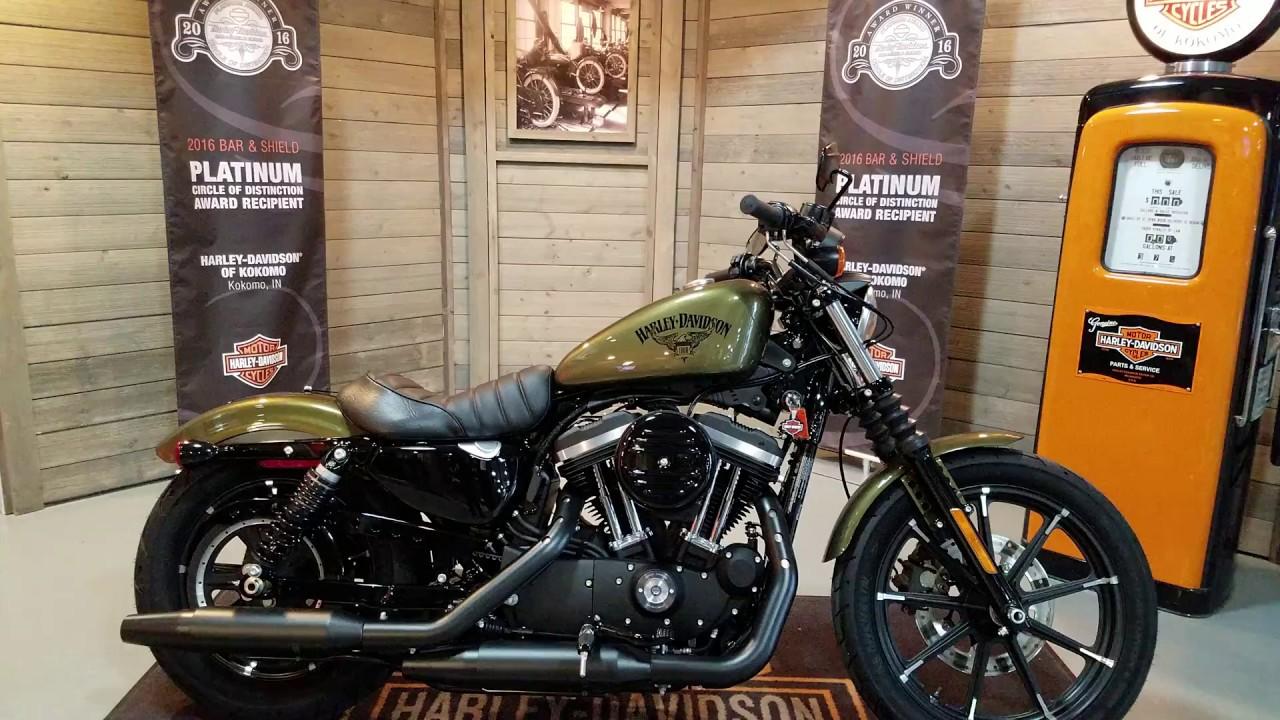 Harley Sportster For Sale >> 2017 Harley Davidson Sportster 883 Iron in olive gold @ Harley-Davidson of Kokomo. - YouTube