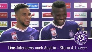 Live-Interviews nach Austria Wien - SK Sturm Graz 4:1