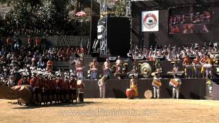 Drum beats of North-East India at the opening ceremony of Nagaland Hornbill festival