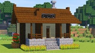 как построить красивый дом в майнкрафте  Простой уютный дом в minecraft