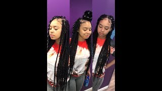 Large Triangle Box Braids  NO RUBBER BANDS OR HEAT