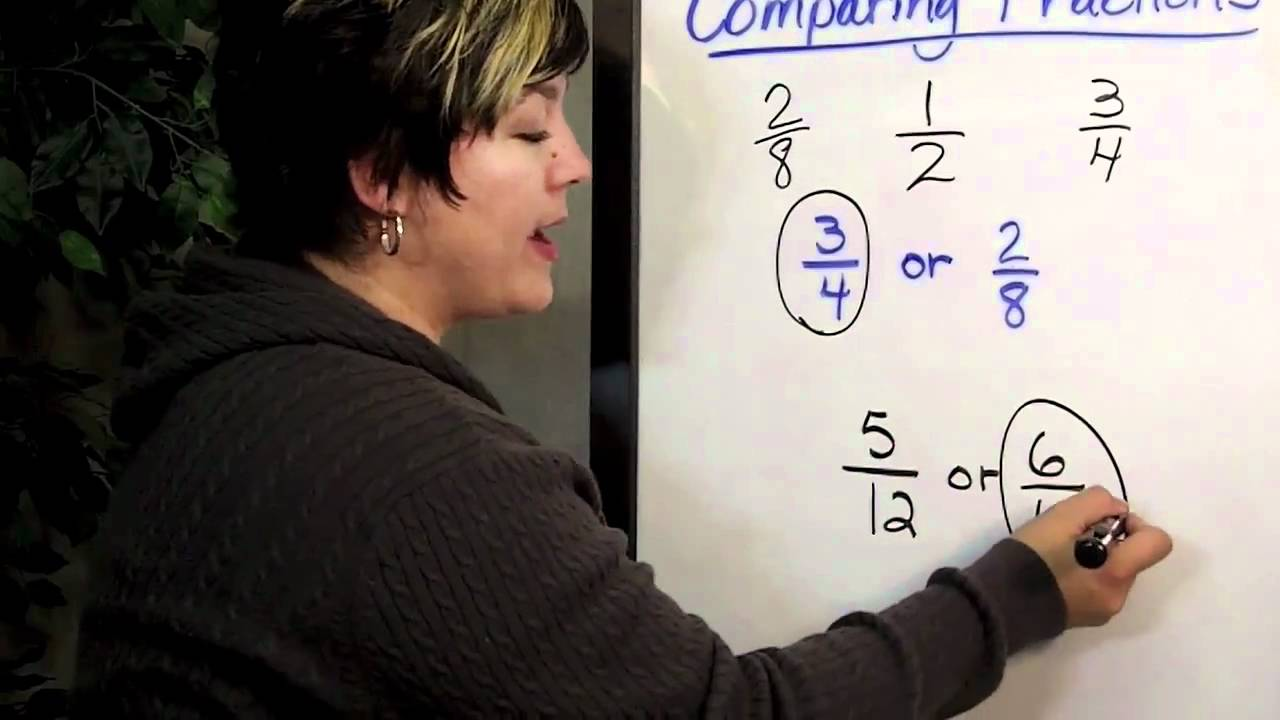 medium resolution of Comparing Fractions Using 1/2 As A Benchmark - YouTube