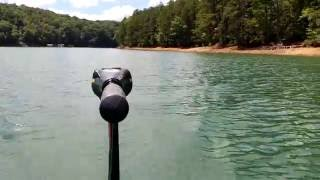Canoe with Minn Kota Max 55 Trolling Motor - First Run