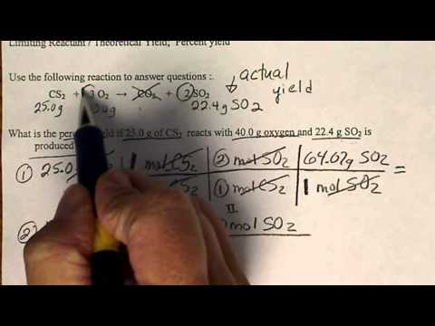 Calculate The Theoretical Yield To Determine The % Yield In A Chemical Reaction