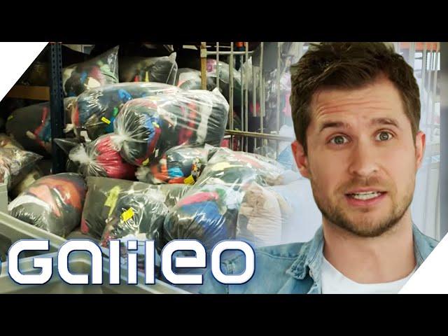 85 Tonnen Kleidung pro Tag! So hart ist die Arbeit im Altkleiderlager | Galileo | ProSieben