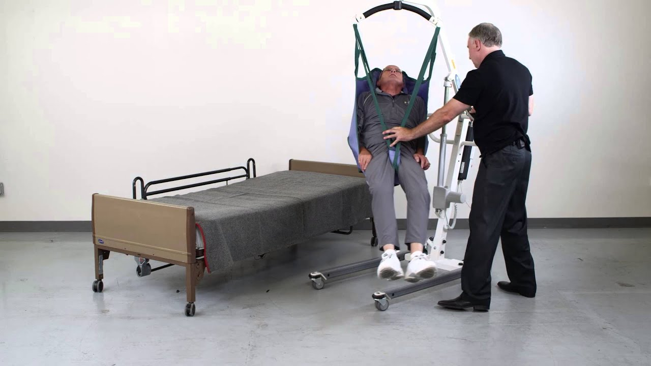 Patient Lift Transfer From Floor To Bed Youtube