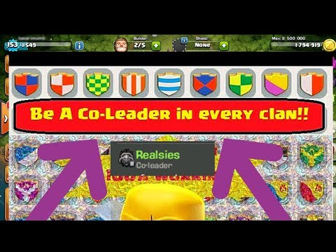 how to be a co-leader in your clan?? in clash of clans in hindi