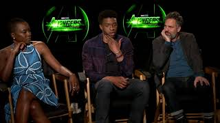 Avengers - Mark Ruffalo, Chadwick Boseman & Danai Gurira: how to save the planet?