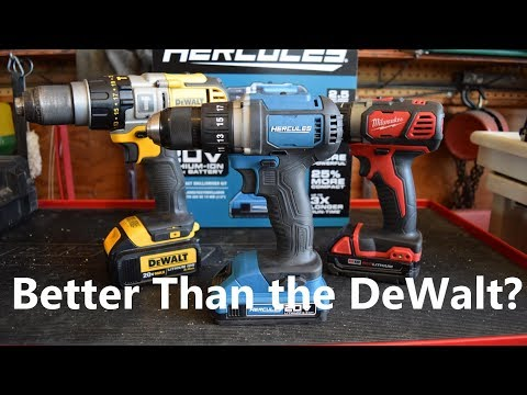 Harbor Freight Hercules Cordless Drill Better Than the DeWalt??!!