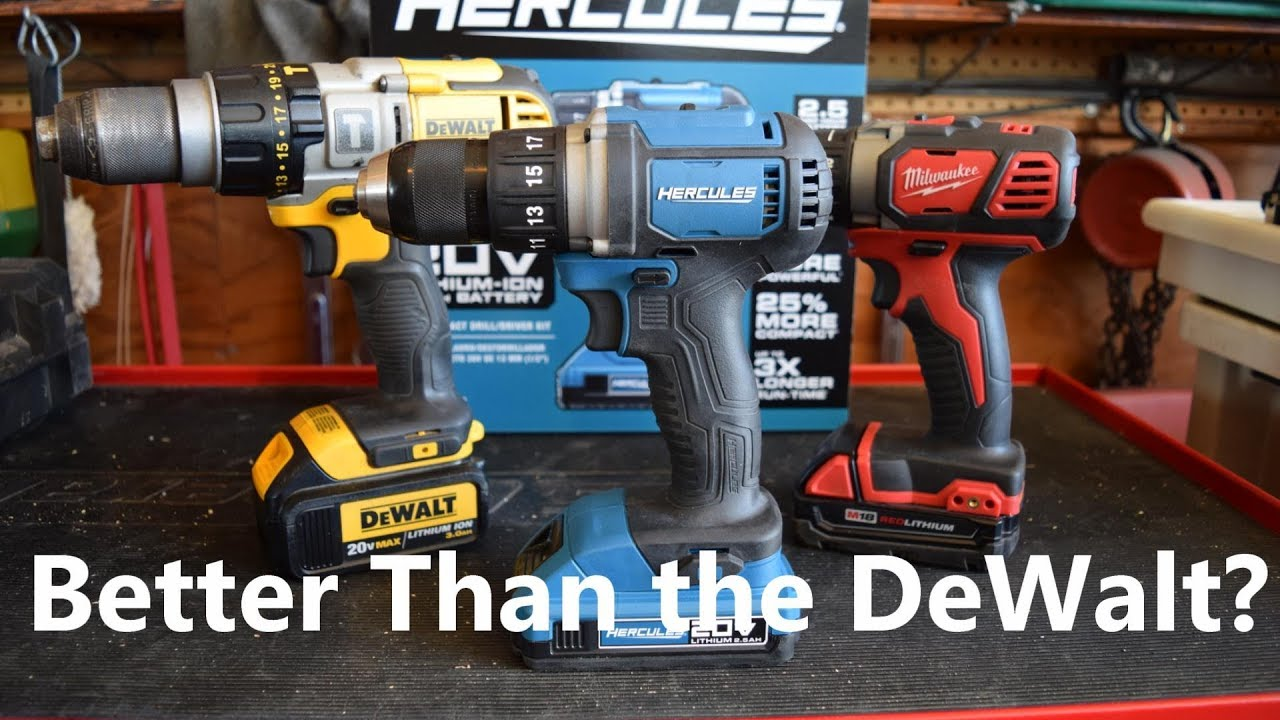 harbor freight hammer drill. harbor freight hercules cordless drill better than the dewalt? hammer