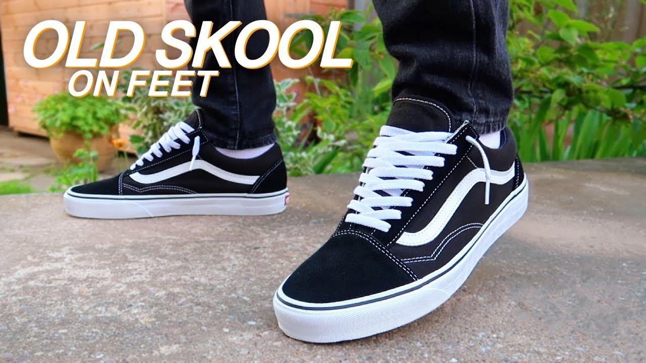 Vans Old Skool (Black & White) On Feet!
