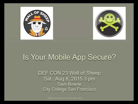 CNIT 128: Introduction To Android App Vulnerabilities