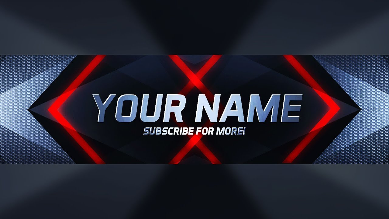 NEW FREE PHOTOSHOP YOUTUBE BANNER TEMPLATE DOWNLOAD! - (YouTube ...
