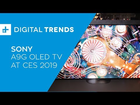 Sony A9G OLED TV - Hands On at CES 2019