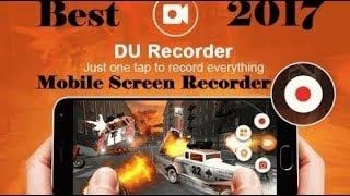Бесплатная программа для записи видео с экрана телефона со звуком DU recorder