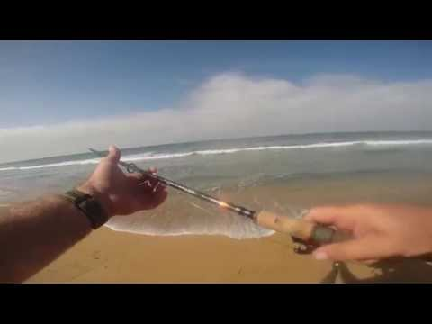 Surf Fishing For Corbinas, Back To Back  H.B. CA.