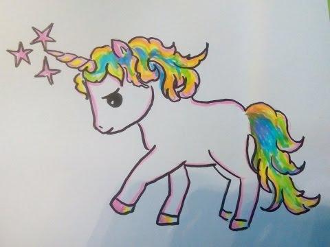 COMO DIBUJAR UN PONY (UNICORNIO, CABALLO) Como hacer un dibujo para ...