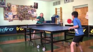 Настольный теннис. Разминка на столе