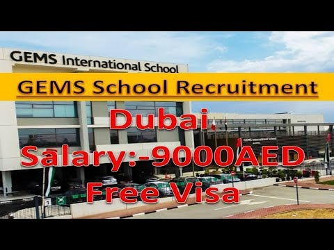 GEMS School Need Staff Apply Fats Good Salary Free Jobs In Dubai.