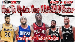 How To Get Updated NBA 2K20 On NBA 2K19 WITH FREE AGENCY & ROOKIES! (PS4/XBOX ONE/PC)