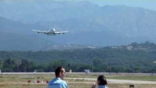 Landing of a Boeing 747 Air France on Ajaccio Airport on 19.07.2009 hd 720p