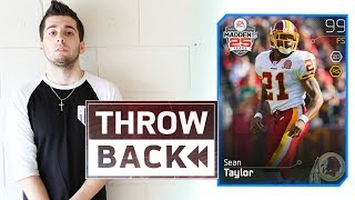 FIRST SEAN TAYLOR CARD! THROWBACK MADDEN ULTIMATE TEAM