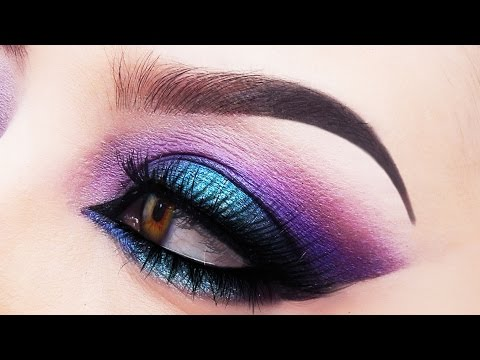 Purple and Blue Smokey Eye Makeup Tutorial