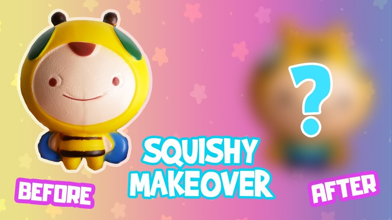 Squishy Makeover DIY   How To Redecorate Squishies Cartoon Edition