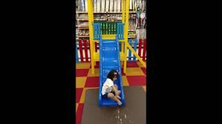Toddler on slide fail