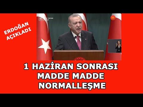 1 Haziran Sonrası Koronavirüs Tedbirlerini Erdoğan Açıkladı! Kafeler açılıyor So