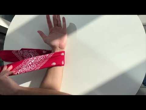 Как завязывать бандану на руку